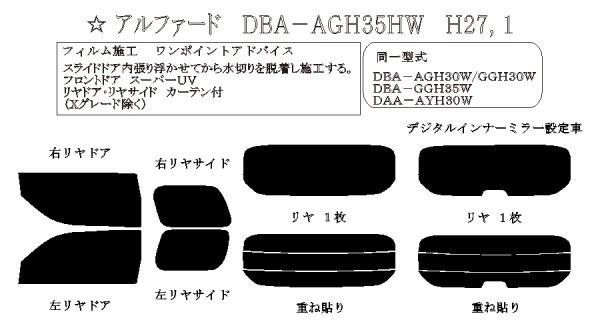 画像1: アルファード 型式: AGH30/GGH30/GGH35/AYH30 初度登録年月/初度検査年月: H27/1〜 (1)