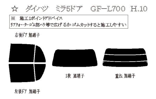 画像1: ミラ 5ドア 型式: L700S/L710S 初度登録年月/初度検査年月: H10〜H14 (1)